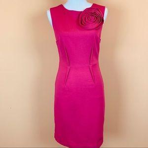 Trina Turk  Romanced rosette sheath dress